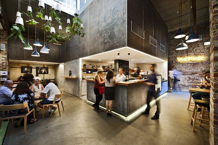 Hospitality Interior Design Restaurant Cafe Bar Concrete Pendant Hanging  Plant Brick | Interior   Hospitality | Pinterest | Design Awards, Interiors  And ...