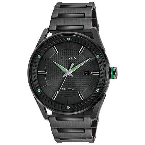 Citizen CTO 42mm Men's Analog Solar Powered Dress Watch - Black Black; Silver Black; Silver : Mens Watches - Best Buy Canada