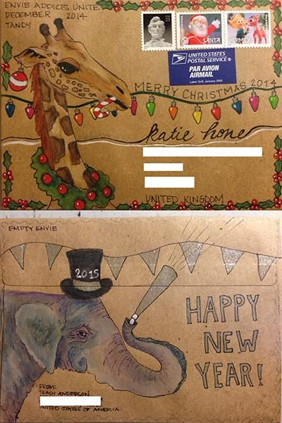 Mail art by Tandy of ATC's For All. Click to view original Mail Art Envelope #MailArt