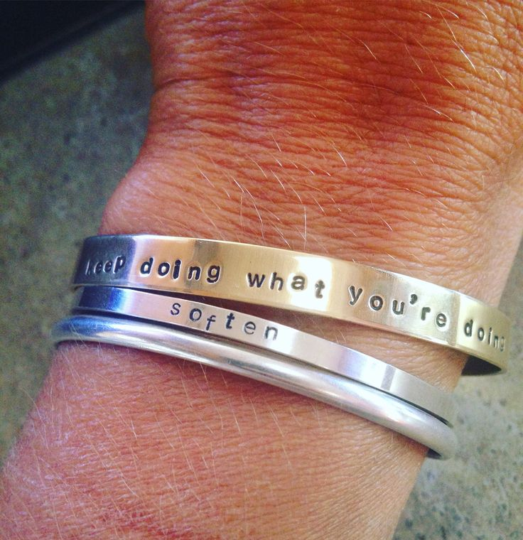 A personal favorite from my Etsy shop https://www.etsy.com/ca/listing/526483819/hand-stamped-cuff-personalized-brass