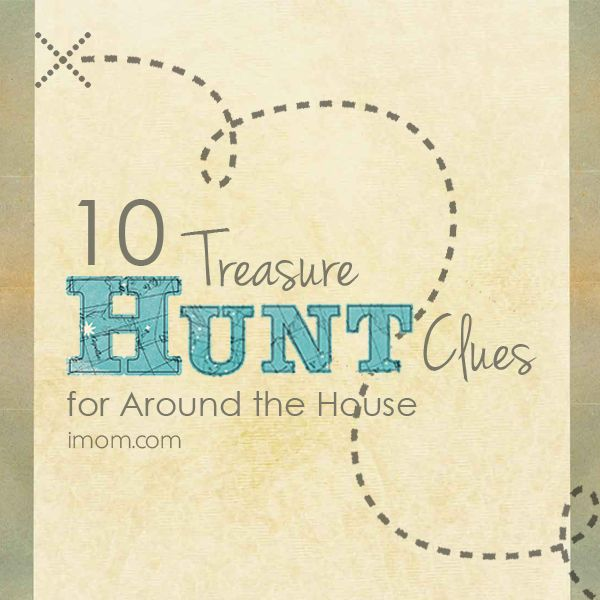 """The next time your kids come up to you and whine, """"I'm bored!"""" We have two words for you– """"treasure hunt"""" #momlife #familyfun"""