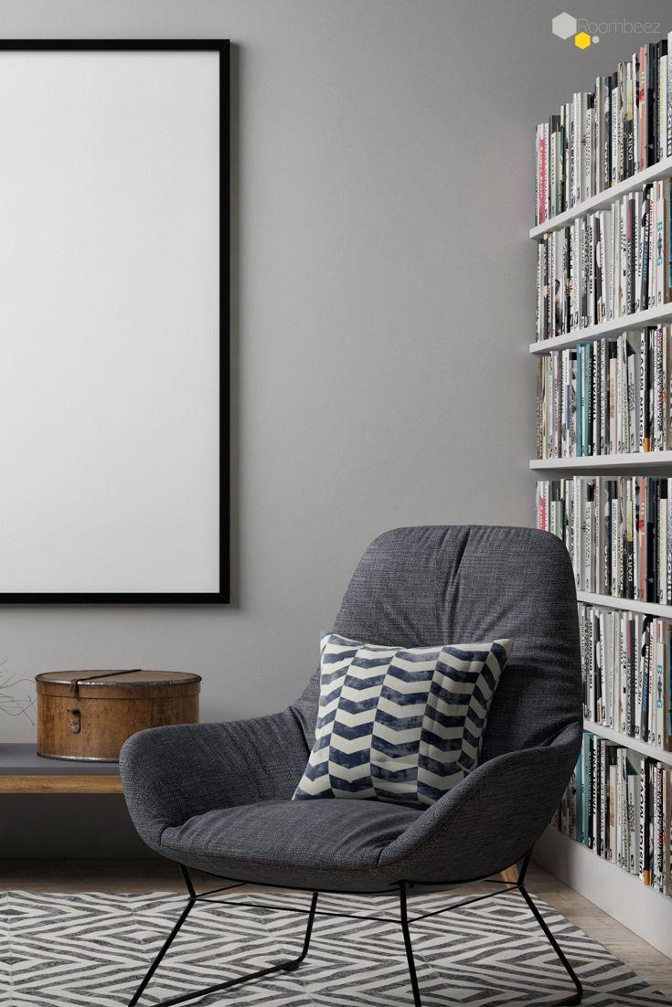 Leseecke #Wohnzimmer #einrichten Ein Buch, eine Tasse Tee und ab