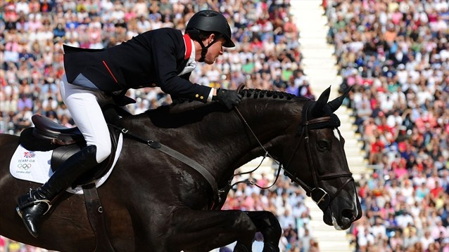 Ben Maher of Great Britain riding Tripple X competes in the 3rd Qualifier of Individual Jumping