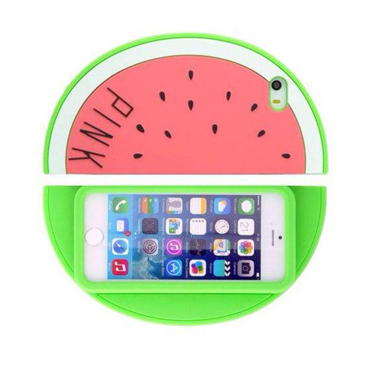Pasteque-Ananas-silicone-Housse-etui-coque-pour-Apple-iPhone-4-5-6-6S-4-7-5-5