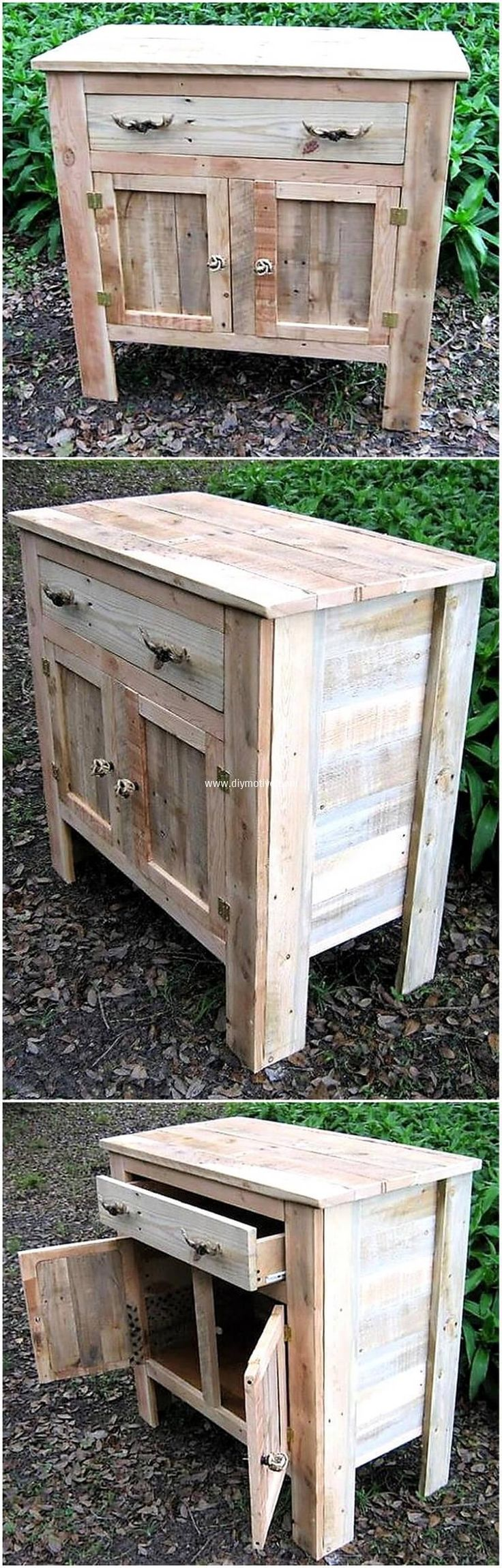 recycled pallets storage cabinet