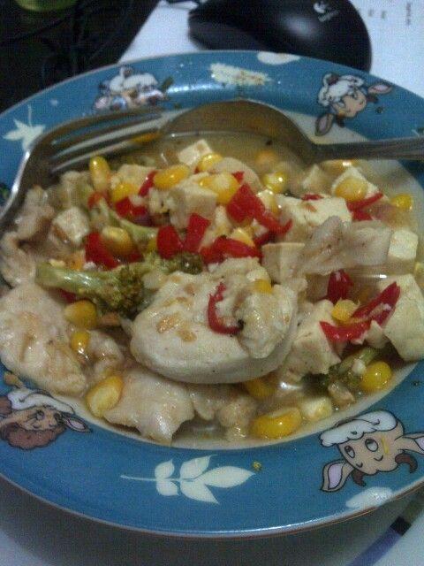 Mix steamed chicken