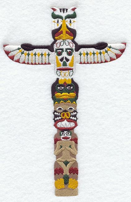 Pacific Northwest Native American Symbols | Totem Pole with Frog