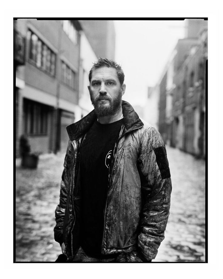 Tom Hardy shot by David Bailey for ShortList