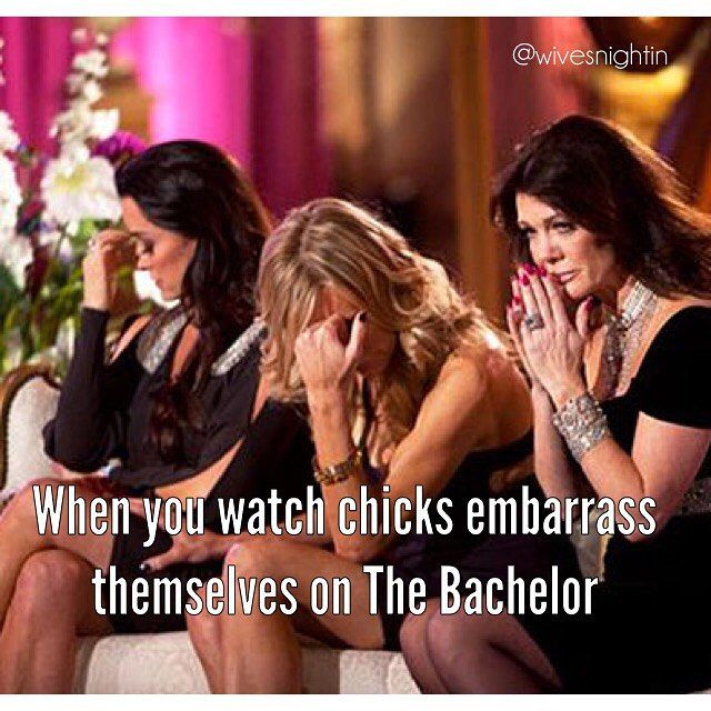 When you watch chicks embarrass themselves on The Bachelor Will you accept this rose, Bachelor Ben