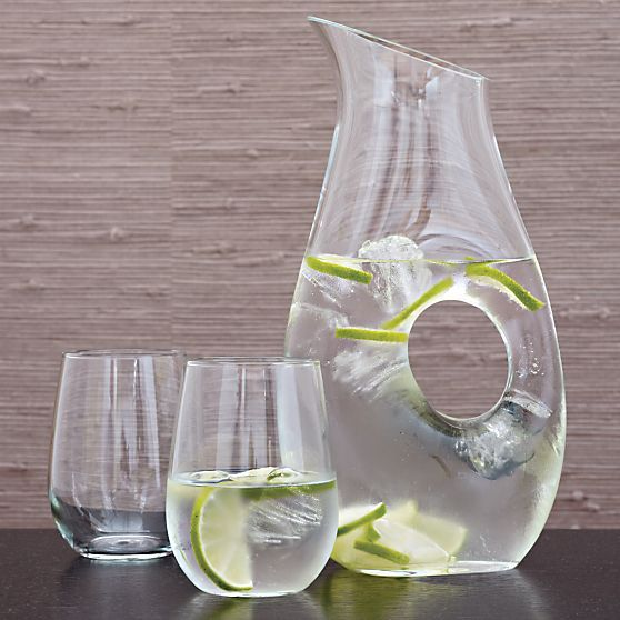 Perfect for everyday use and for formal occasions, the Ona pitcher will stand out on your dining table with any cold beverage. Add this sleek, handmade item to your registry on Crate & Barrel: http://www.crateandbarrel.com/ona-large-pitcher/s481831?a=1895 #wedding #weddingregistry