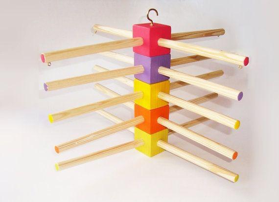 Wooden mobile hanger