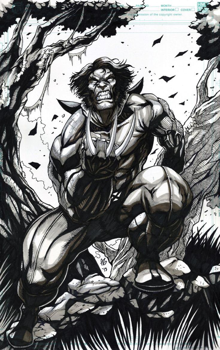 Wolverine INKED Comic Art