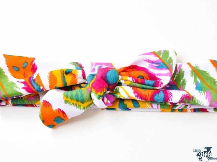Bright Feathers Top Knot Headband