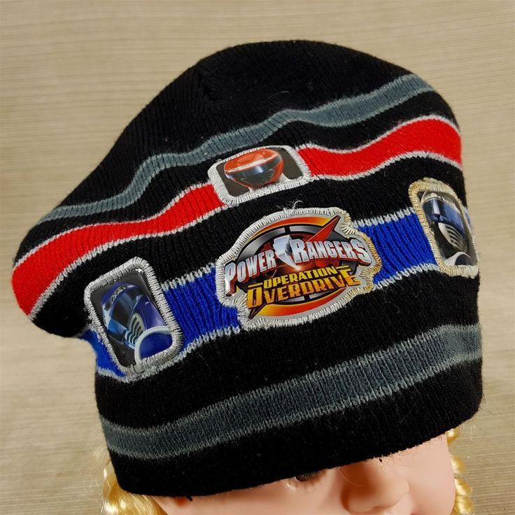 Power Rangers Operation Overdrive Black Red Blue Ranger Kids Knit Hat Cap Beanie