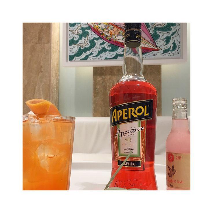 Aperol & Grapefruit Soda at #theionbar...enjoy it !!!