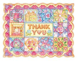 Carol Wilson Carol's Rose Garden Patchwork Quilt Thank You Notes