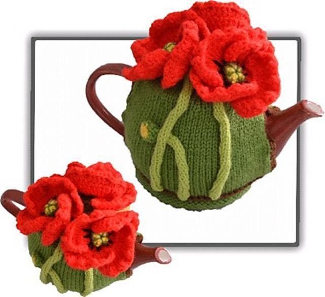 Poppy Tea Cosy Knitting Crochet pattern by T-Bee Cosy   Knitting Patterns…
