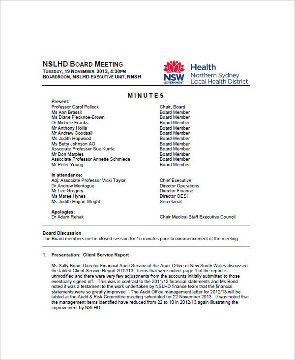 Meeting Minutes Templates | 18+ Free Printable Docs, Xlsx