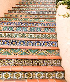 Mexican tiles and terracotta
