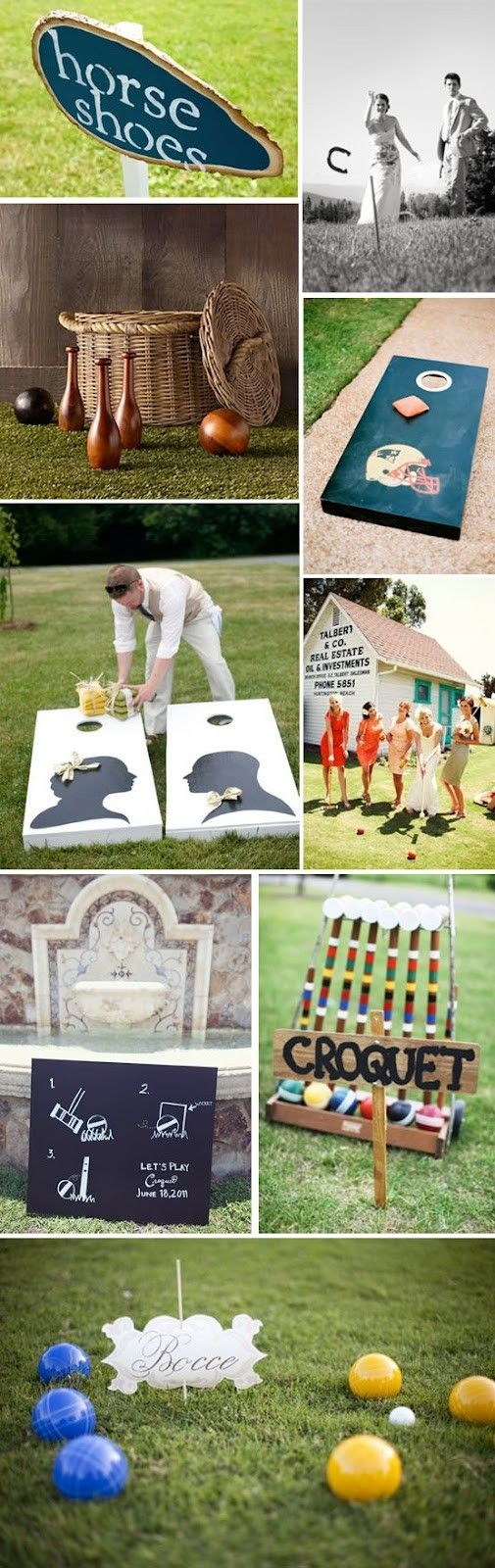 Wedding Lawn Games plus other great ideas                                                                                                                                                                                 More                                                                                                                                                                                 More