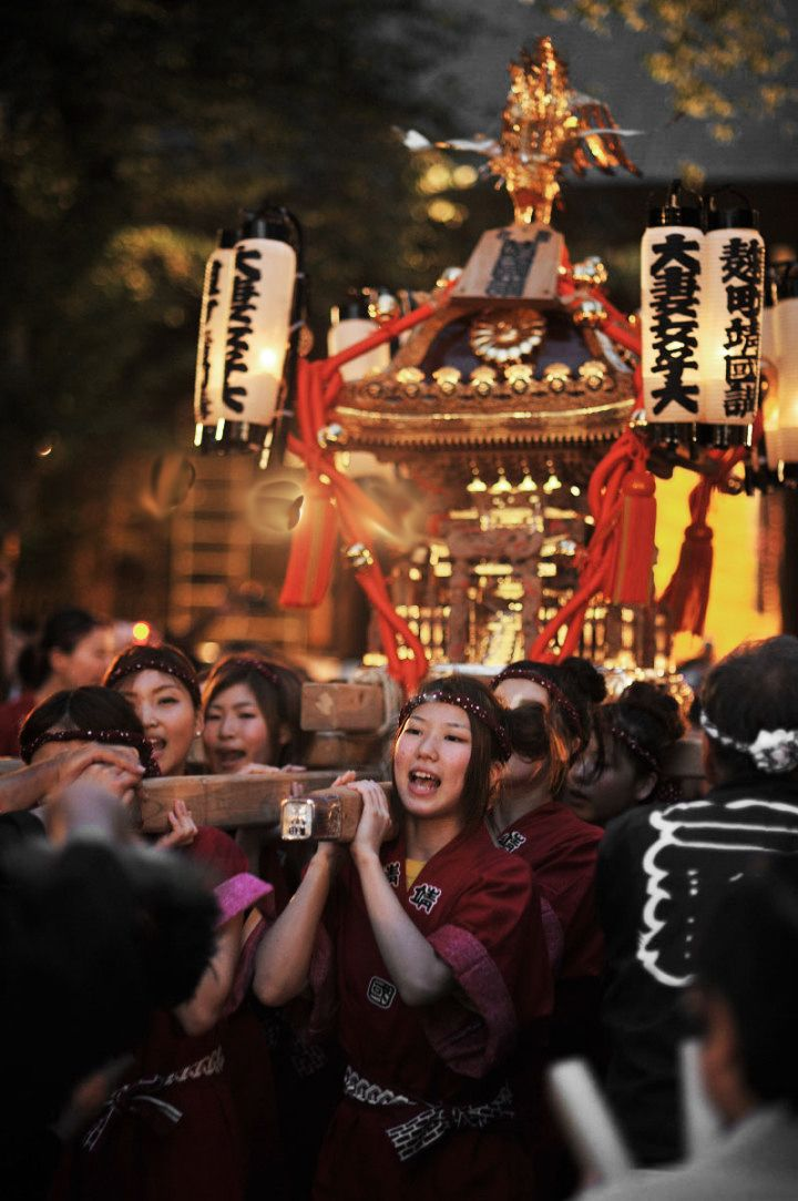 omikoshi (a portable shrine used in shinto religious festivals all over Japan) at Yasukuni shrine
