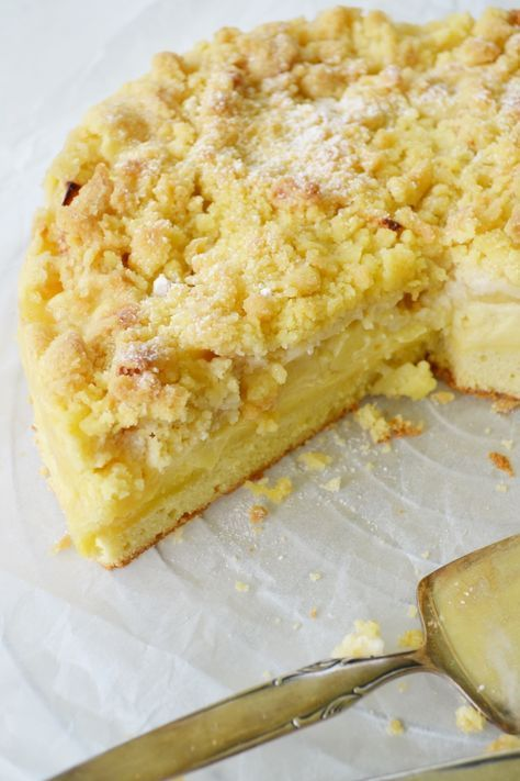 Unglaublich Lecker Apfel Streusel Kuchen Mit Puddingcreme Kuchen