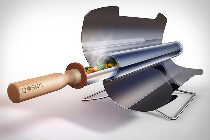 Cocina Solar Portátil GoSun, este magnifico invento tiene la capacidad de utilizar la energía del sol para cocinar casi todo tipo de alimentos e líquidos. Gracias a su diseño inteligente, utiliza una cámara de borosilicato junto a un cubo de vidrio para cocinar, hervir o freír todo tipo de alimentos, y gracias a su bandeja de acero inoxidable y dos reflectores parabólicos plegables, lograremos temperaturas de más de 550 ° F, con lo que tendremos casi todos tipo de alimentos cocinados en unos…