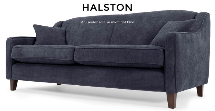 Halston 3 Seater Sofa in midnight blue | made.com