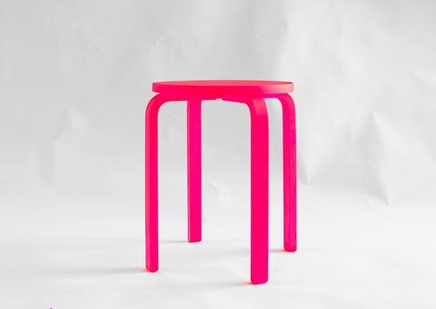 Neon Table / Stool: Paintings House, Ikea Frosta Stools Paintings 4, Birthday Presents, Plants Stands, Gifts Ideas, Contemporary Furniture, Neon Tables, Ikea Hacks, Neon Color