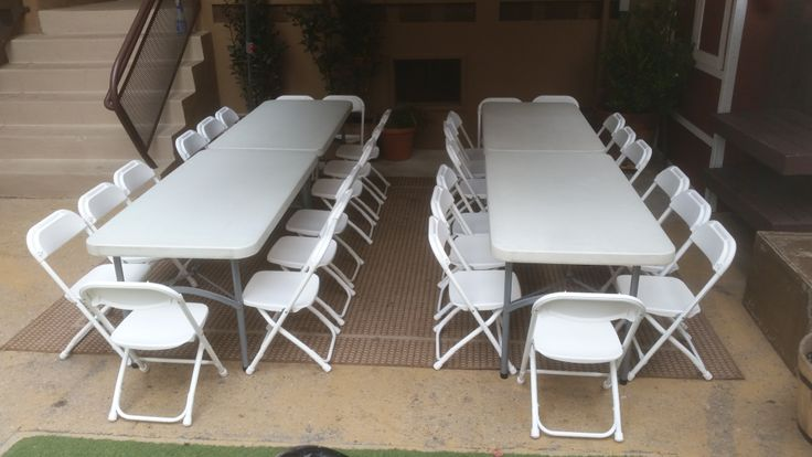 Kids folding chairs and kids tables for rent!  Ready to make your own for your special event!  Rent online at www.bigblueskyparty.com