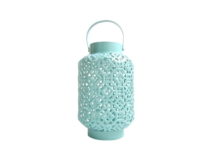aqua blue lantern - Querido Homestyling Store - www.lojaquerido.com