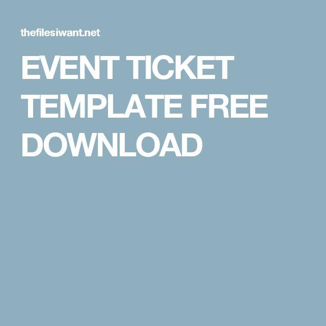 Best 20 Ticket Template ideas – Ticket Template