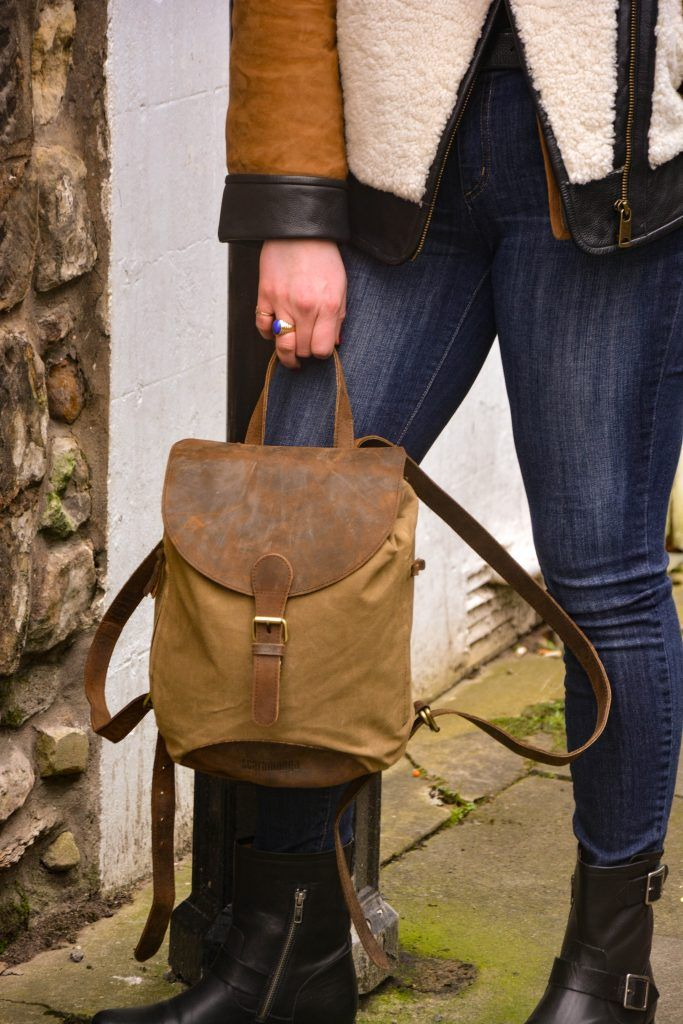 This small canvas and leather backpack is compact but certainly mighty! The zip pockets on both sides of the bag allows you to store your smart phone and keys in a convenient place. #canvas #leather #canvasbag #vintage #vintagestyle #musthave