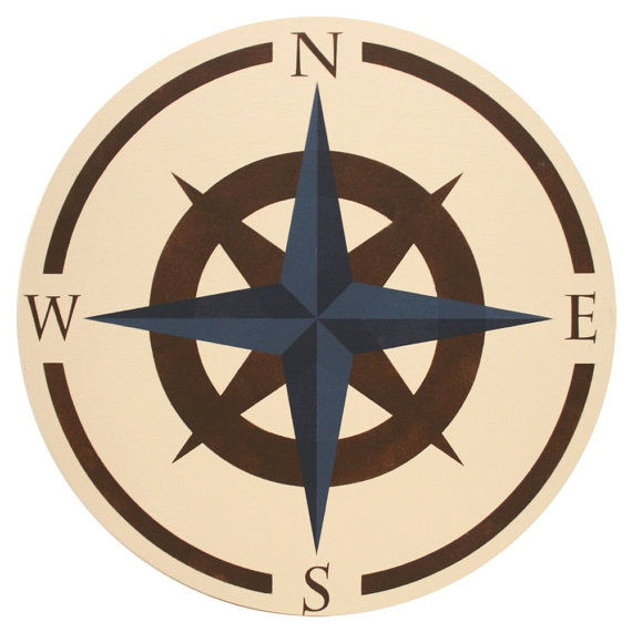 Travel Themed Bedroom For Seasoned Explorers: Compass Rose Art--should Put This On The Classroom Ceiling