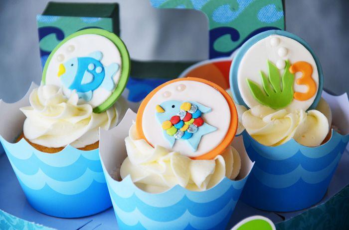 Under the Sea theme: Birthday Cupcake, Party Cupcake, Fish Party, Ocean Cupcake, Party Idea, Kids Party, Fish Cupcake, Themed Cupcake, Birthday Party
