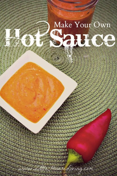 Make your own delicious Hot Sauce Recipe! So fresh and perfect to add a little kick to meals!