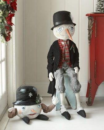Snowman Figures By Gathered Traditions By Joe Spencer At