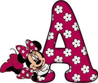 Alfabeto Decorativo: Alfabeto - Minnie 19 - PNG - Completo - Maiúsculas...
