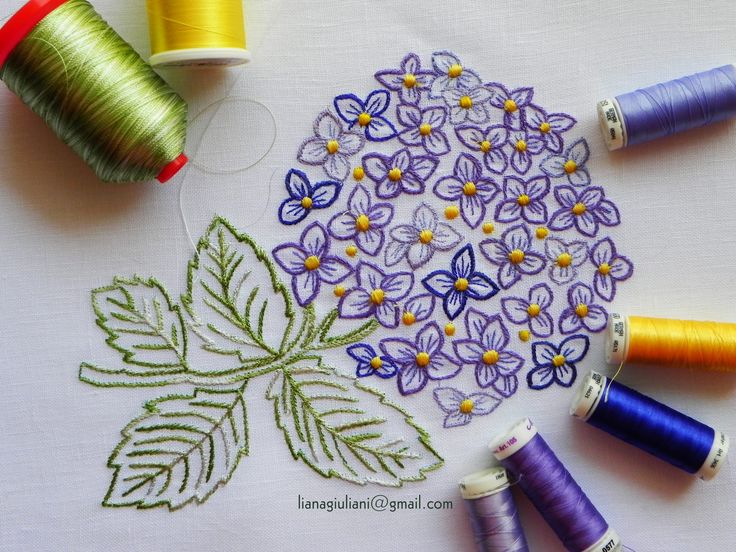 Free motion machine embroidery flower.