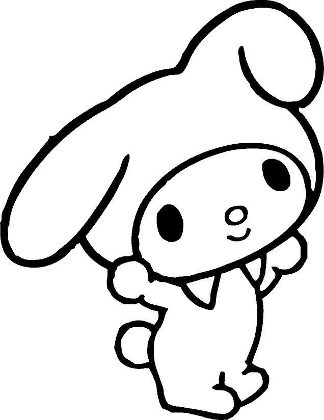 Hello Kitty And My Melody Coloring Pages : Best my melody bday images on pinterest