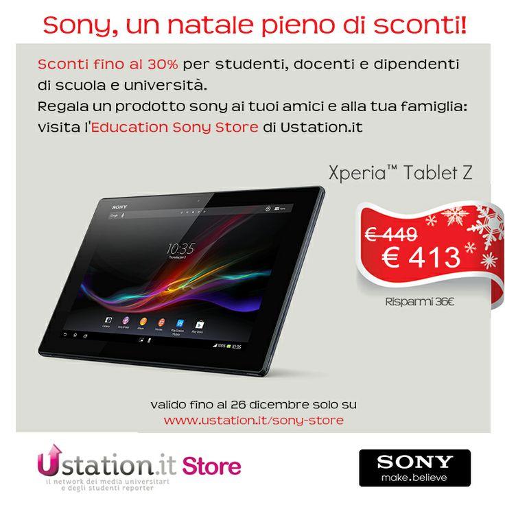 #sconti #studenti #natale #regali #università #sony #tablet #xperia http://www.ustation.it/sony-store
