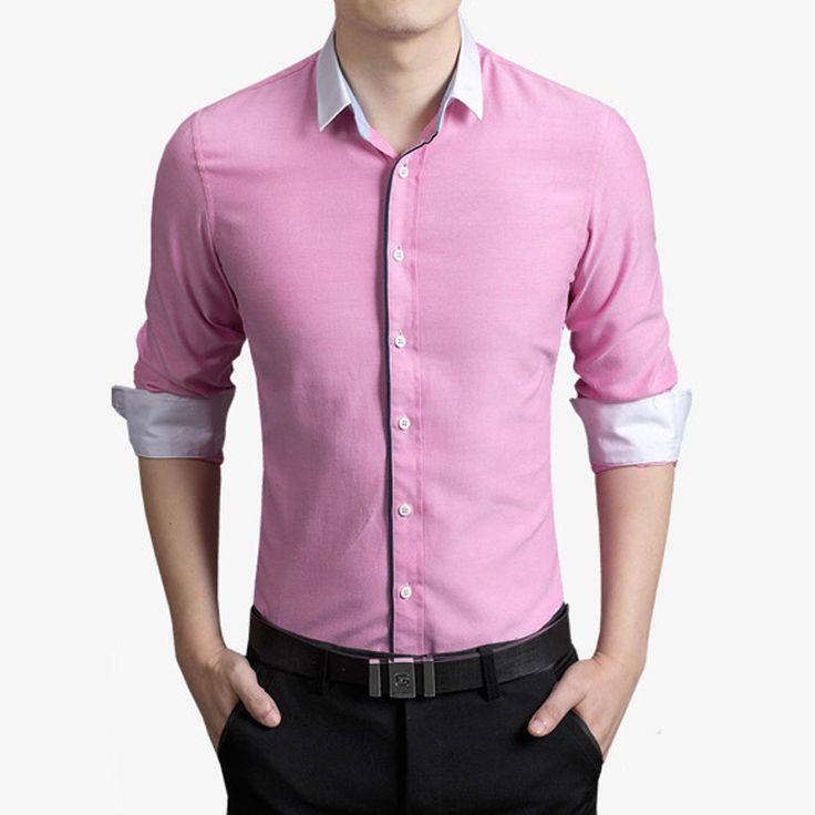 Goedkope Hotsale 2016 Nieuwe Mode Mannen Shirt Lange Mouw Merk Oxford Shirts…