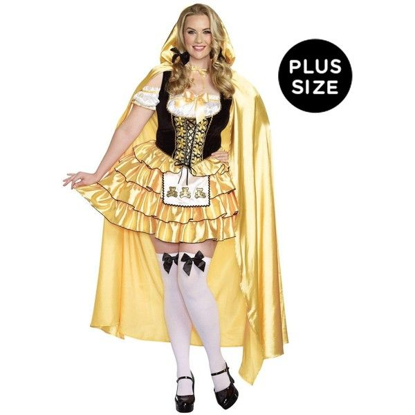 Goldilocks Plus Size Adult Costume ($50) ❤ liked on Polyvore featuring costumes, halloween costumes, fairy halloween costumes, adult halloween costumes, adult fairy costume, adult costume and plus size fairy costume