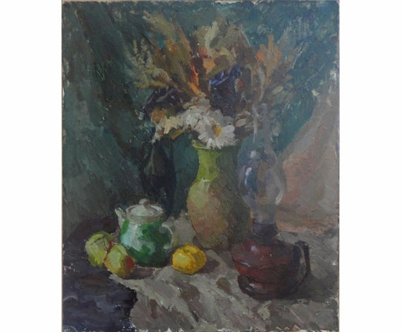 Original Oil Painting Still life by OilOxOil on Etsy, $250.00