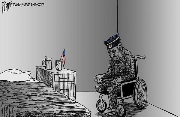 3/12/17 Editorial Cartoon - Oklahoma Dept of Veterans Affairs