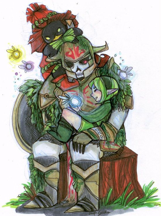AHHHHH!! I just screamed.  OMG.  Too perfect.  Too amazing.  I love this soooooo much... :D Skull Kid, Saria, and the guy that we theorize to be Link.