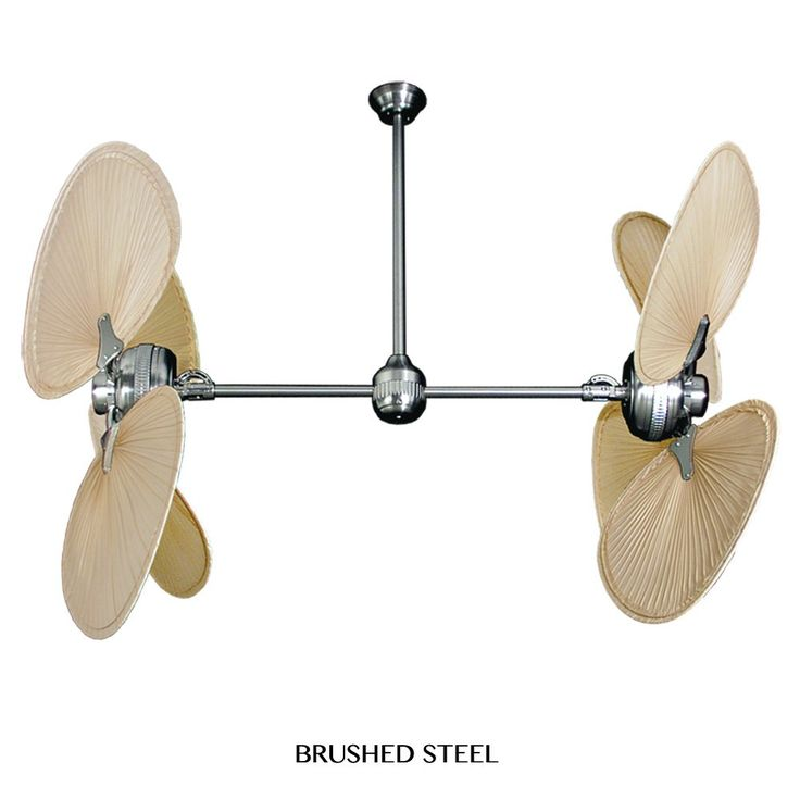 Twin Star II Tropical Palm Leaf Double Motor Ceiling Fan by Gulf-Coast Fans