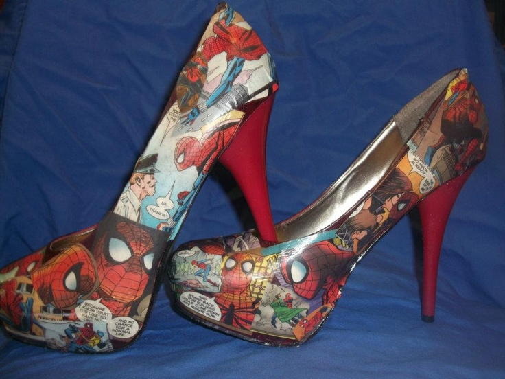 SpiderMan High Heels!: Patent Leather Pumps, Heels Challenges, Wedding Shoes, Diy Style, Spiderman High Heels, Comic Books, Spidey Heels, Products, Comics