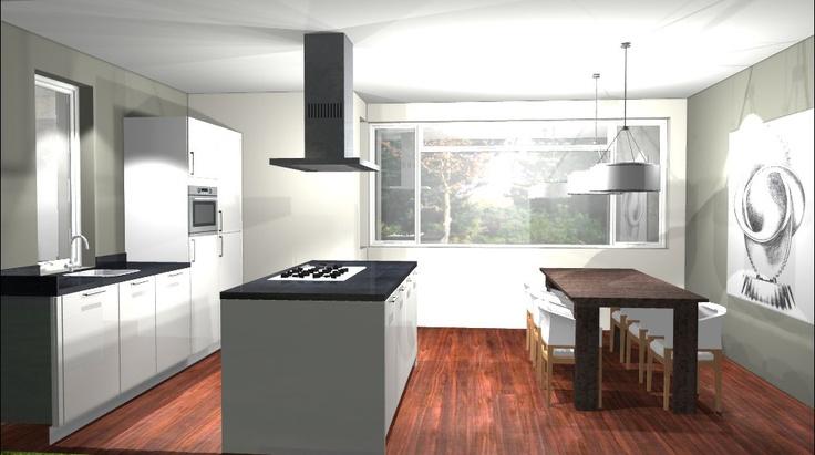 Voorbeelden Nieuwe Keukens : 51 best images about 3D keukenontwerpen on Pinterest