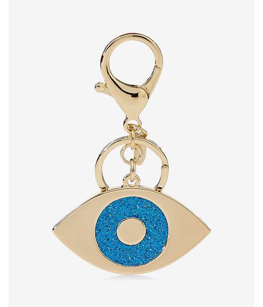 Glitter Evil Eye Keychain Women's Gold